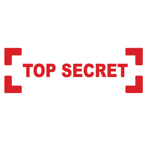Bracket TOP SECRET Stamp