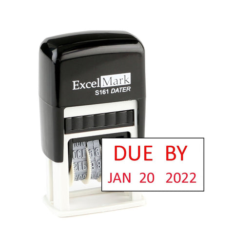 Small Due By Date Stamp