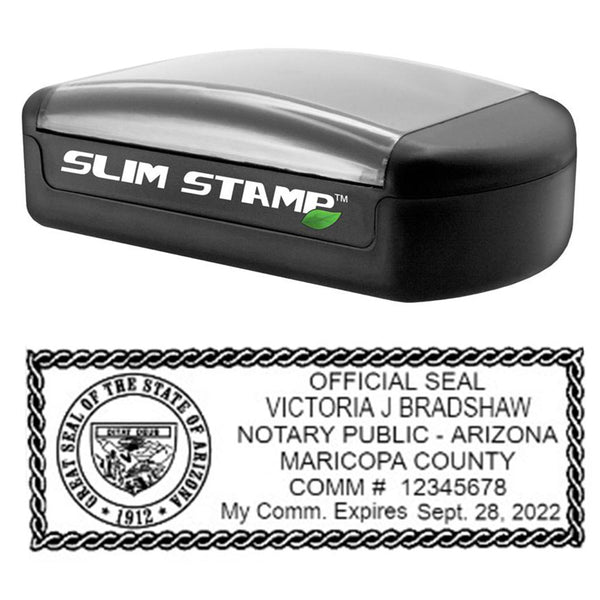 Slim Arizona Notary Stamp