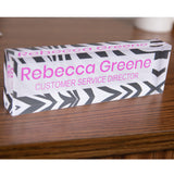 Acrylic Glass Block Name Plate - Zebra Stripes