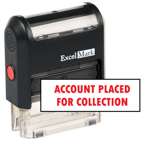 Account Placed For Collection Stamp