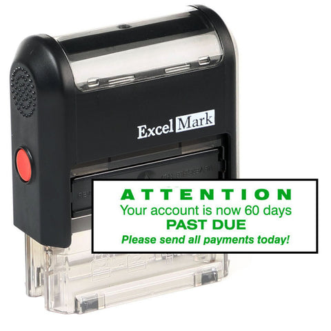 Attention 60 Days Past Due Stamp