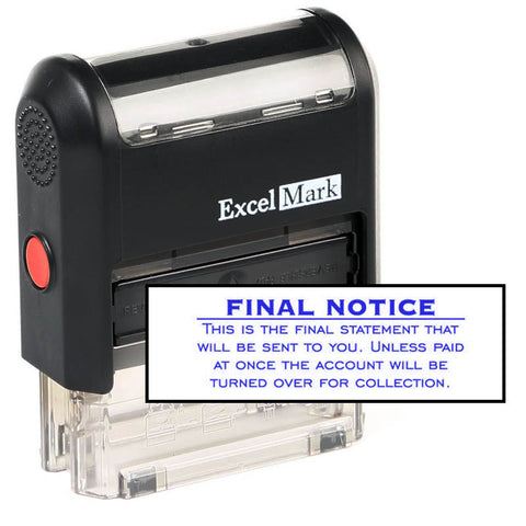 Final Notice Final Statement Stamp