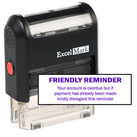 Friendly Reminder Overdue Stamp