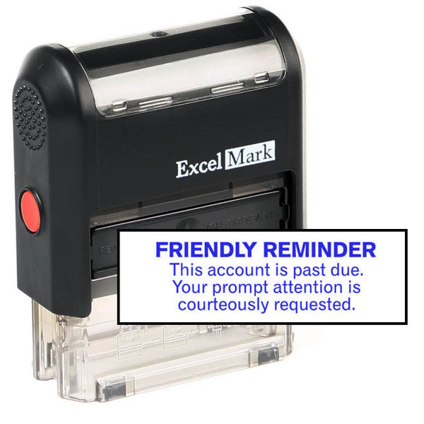 Prompt Attention Courteously Requested Stamp