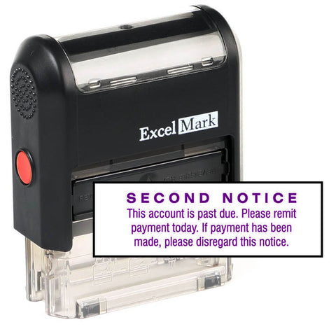 Second Notice Past Due Stamp