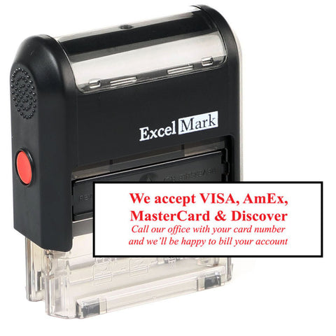 We Accept Credit Cards Stamp