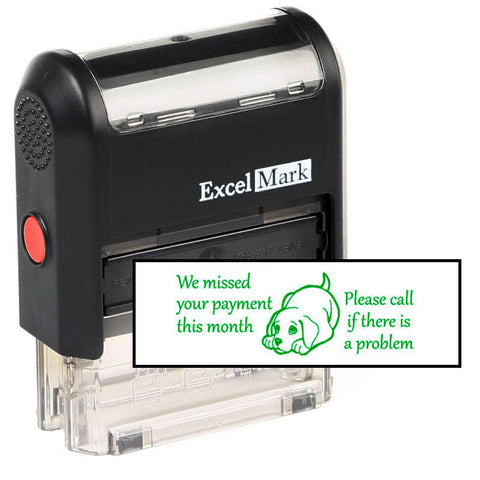 We Missed Your Payment This Month Stamp