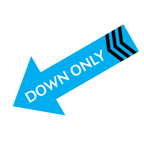 Down Only Wall Decal