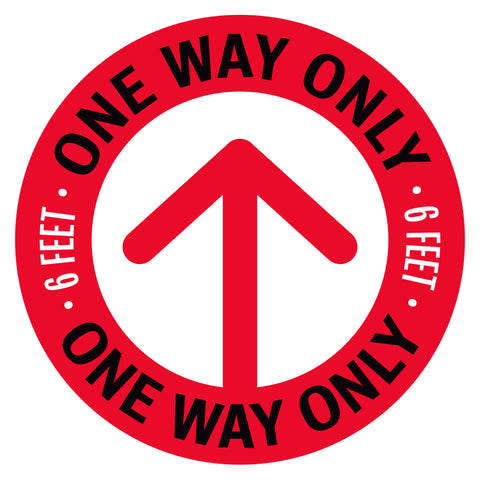 One Way Only Arrow Floor Decal