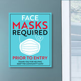 Face Masks Required Prior To Entry Decal