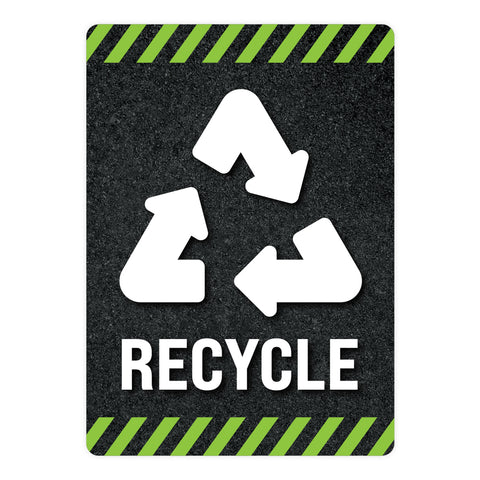 Black Recycle Warehouse Safety Sign