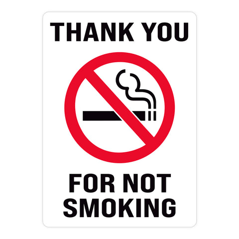 Thank You For Not Smoking Warehouse Safety Sign
