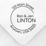 Open Circle Address Stamp