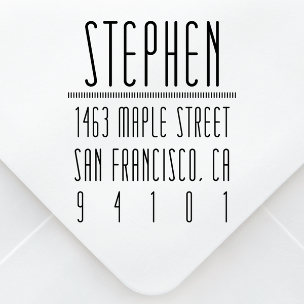 Simple Stretched Address Stamp