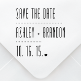 Save The Date Design Stamp