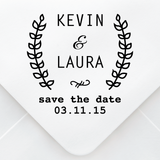 Save The Date Olive Branch Stamp