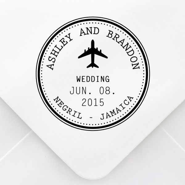 Plane Wedding Stamp