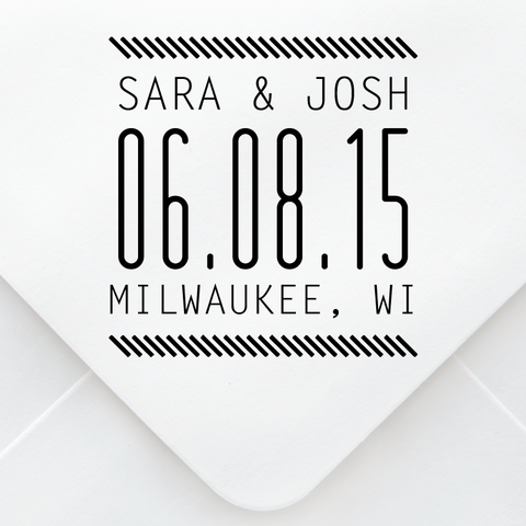 Stretch Save The Date Stamp