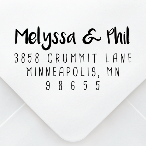 Hand Drawn Address Stamp