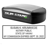 Slim Hawaii Notary Stamp