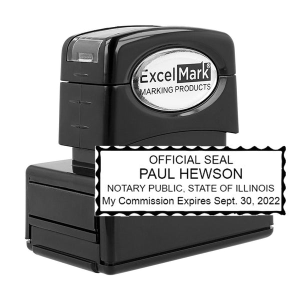 Pre-Inked Illinois Notary Stamp