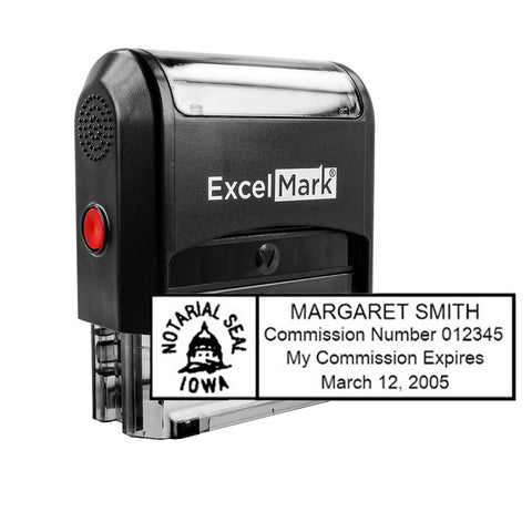 Iowa Notary Stamp - Self-Inking