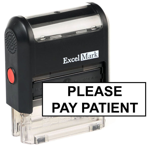 Large Please Pay Patient Stamp