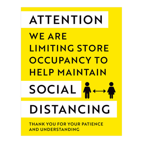 Attention Limiting Store Occupancy Decal