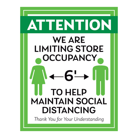 Help Maintain Social Distancing Sign