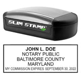 Slim Maryland Notary Stamp