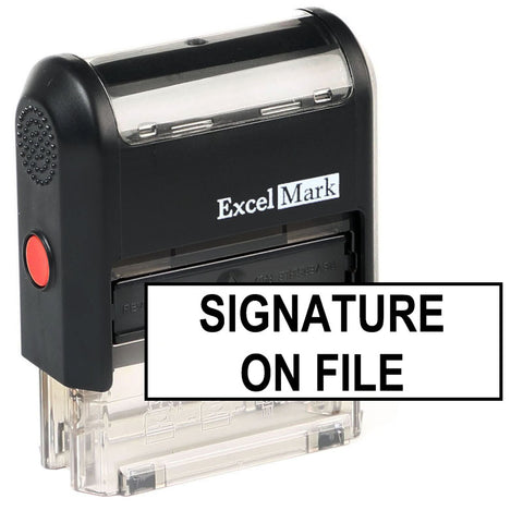 Signature On File Stamp