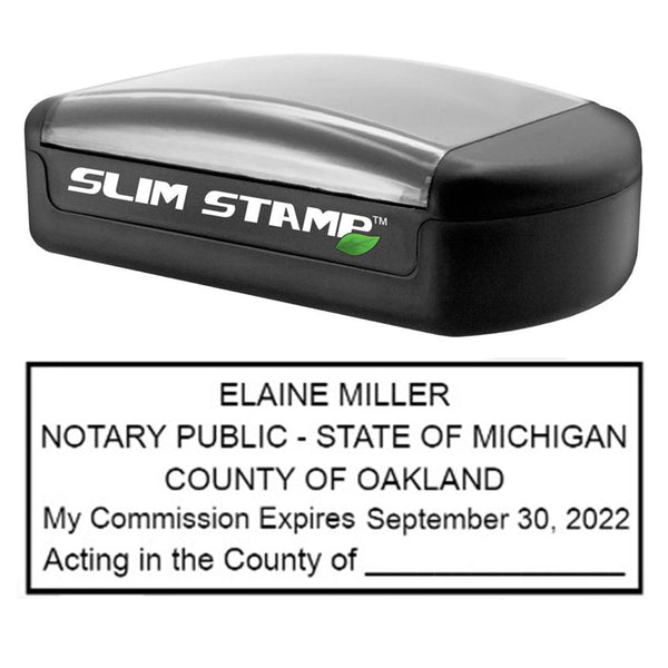 Slim Michigan Notary Stamp