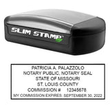 Slim Missouri Notary Stamp