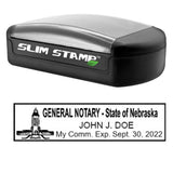 Slim Nebraska Notary Stamp