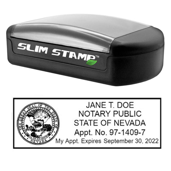 Slim Nevada Notary Stamp