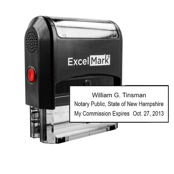 Self-Inking New Hampshire Notary Stamp