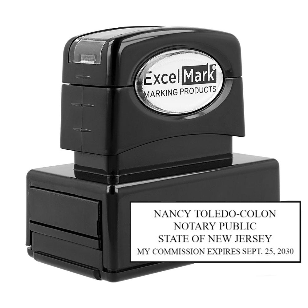 Pre Inked New Jersey Notary Stamp