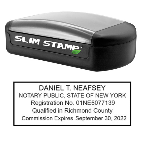 Slim New York Notary Stamp
