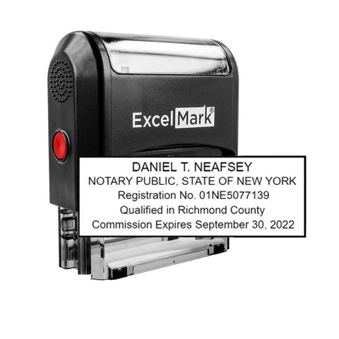 Self-Inking New York Notary Stamp