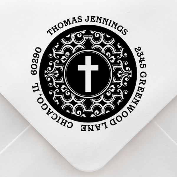 Cross Address Stamp