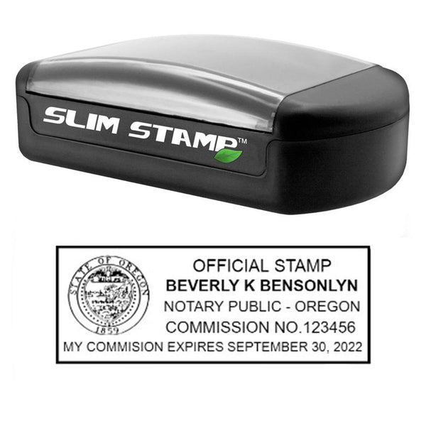 Slim Oregon Notary Stamp