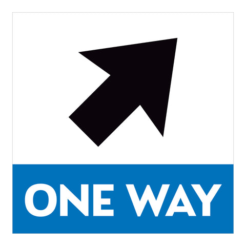 One Way Arrow Stairwell Signs