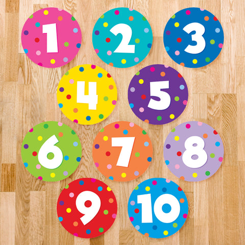 Number Classroom Floor Decal