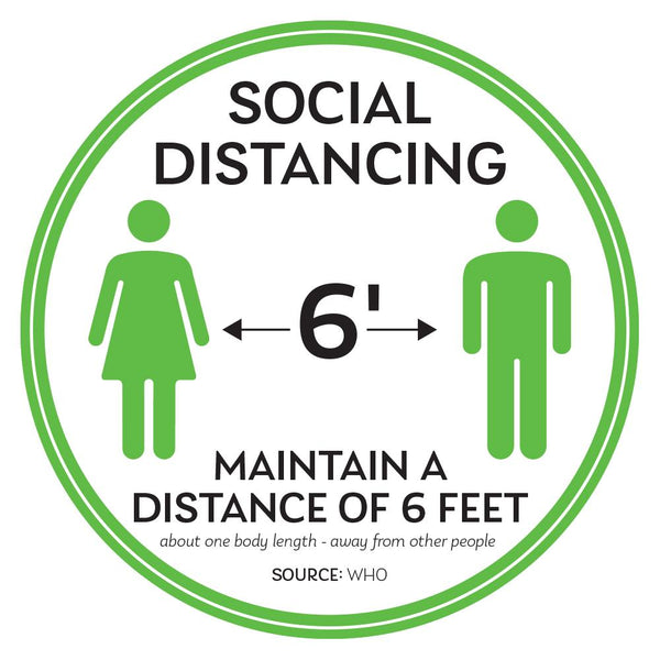 Maintain A Distance Of Six Feet Floor Decal