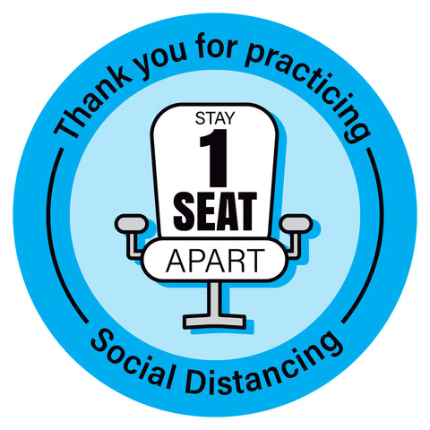 Stay 1 Seat Apart Chair Decal