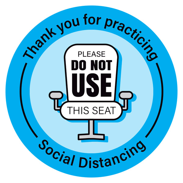 Social Distancing Please Do Not Use This Seat Chair Decal