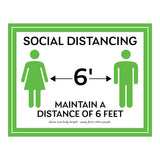 Maintain A Distance of Six Feet Sign