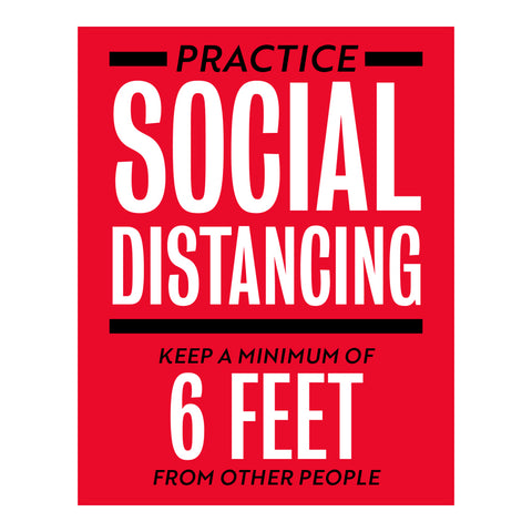 Practice Social Distancing Keep A Minimum Sign