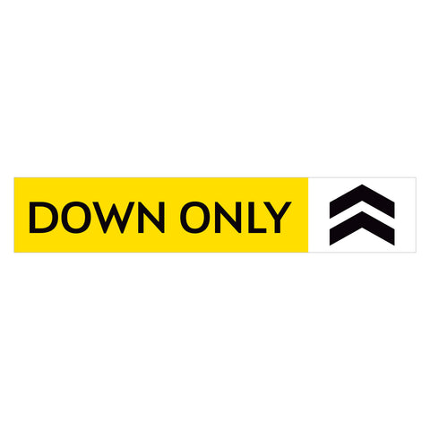 Down Only Stair Decal